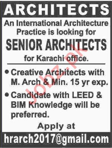 Senior Architects Jobs Open in Karachi