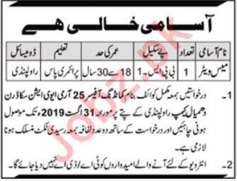 Army Aviation Squadron Rawalpindi Mess Waiter Job 2019