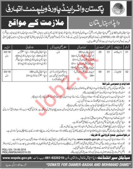 Pak Water & Power Development Authority WAPDA Hospital Jobs