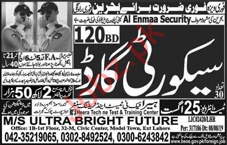 Al Enmaa Security Company Jobs 2019 in Bahrain