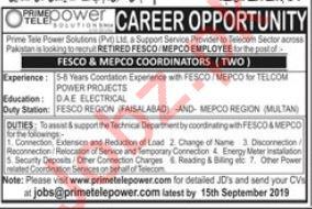 Coordinator Jobs in Multan