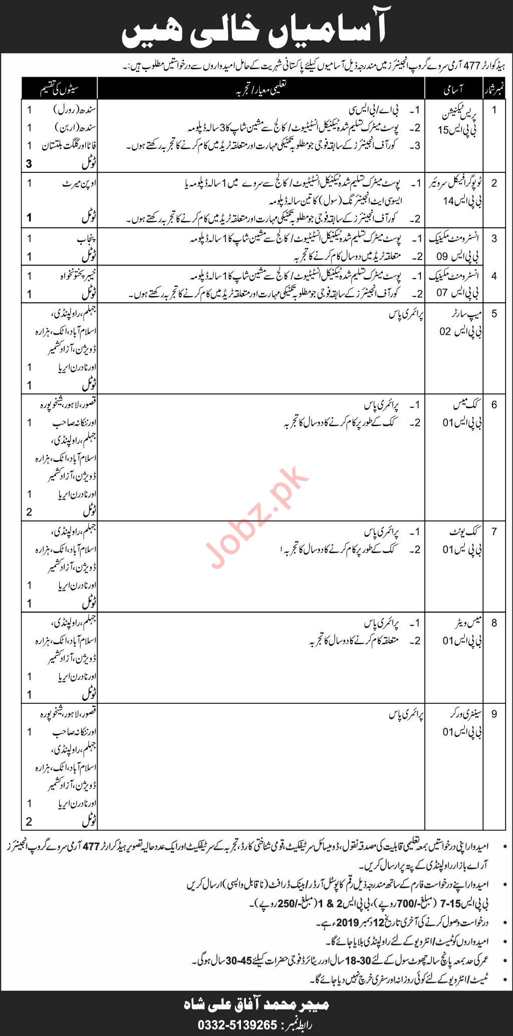 Headquarter 477 Army Survey Group Engineers Jobs 2019
