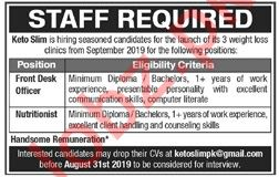 Clinical Staff Jobs 2019 in Lahore