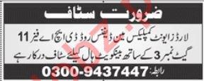 Banquet Hall Jobs 2019 in Lahore