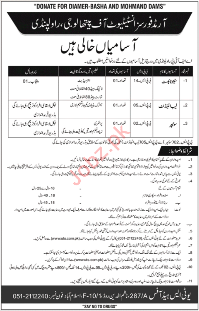 Armed Forces Institute Of Pathology Jobs in Rawalpindi