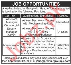 Premier Group of Industries Jobs