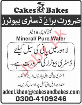 Cakes & Bakes Pakistan Jobs