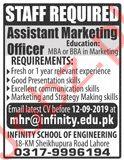 Infinity School of Engineering Lahore Jobs 2019