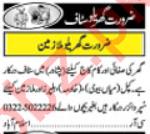 House Staff Jobs in Peshawar