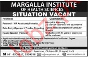 Margalla Institute Of Health Science Jobs in Rawalpindi