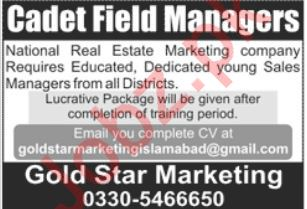 Sales Manager Jobs in Islamabad
