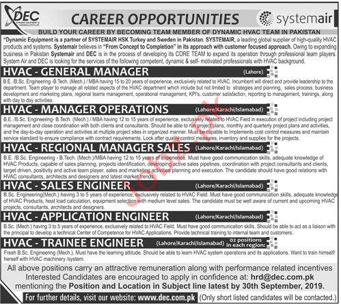 Dynamic Equipment & Controls Pvt Ltd Jobs