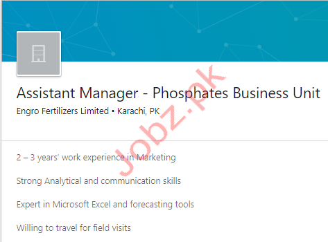 Assistant Manager Jobs in Karachi