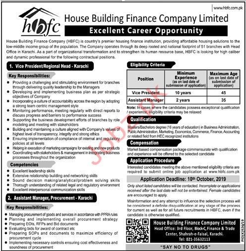HBFCL Karachii Jobs