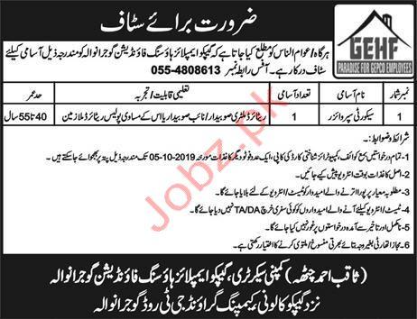 Security Supervisor Jobs in Gujranwala