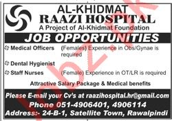 Al Khidmat Raazi Hospital Rawalpindi Jobs for Doctors