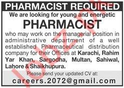 Pharmaceutical Distribution Company Job For Pharmacist