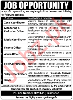NGO Non Profit Organization Jobs in Islamabad