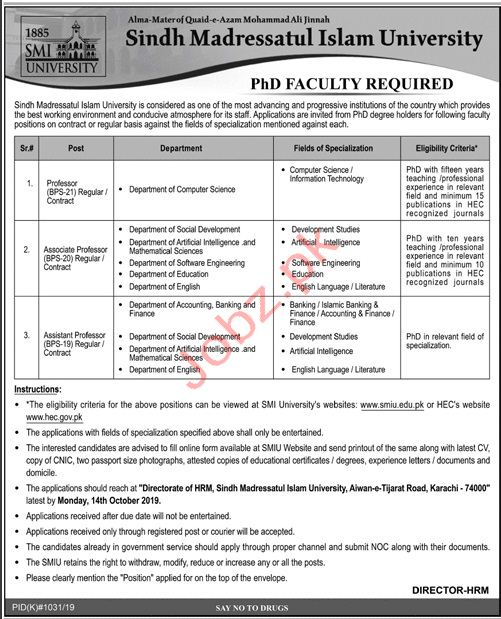 PHD Faculty Jobs 2019