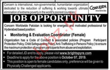 Concern Worldwide NGO Hyderabad Jobs