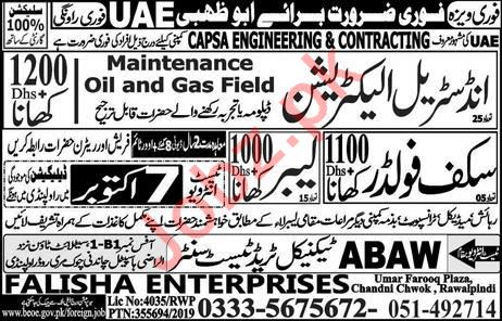 Capsa Engineering & Contracting Company Jobs In Abu Dhabi