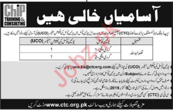 Chip Training & Consulting Pvt Limited Kila AbdUllah Jobs