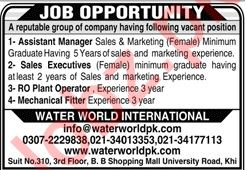 Assistant Manager Sales Executives Jobs in Karachi