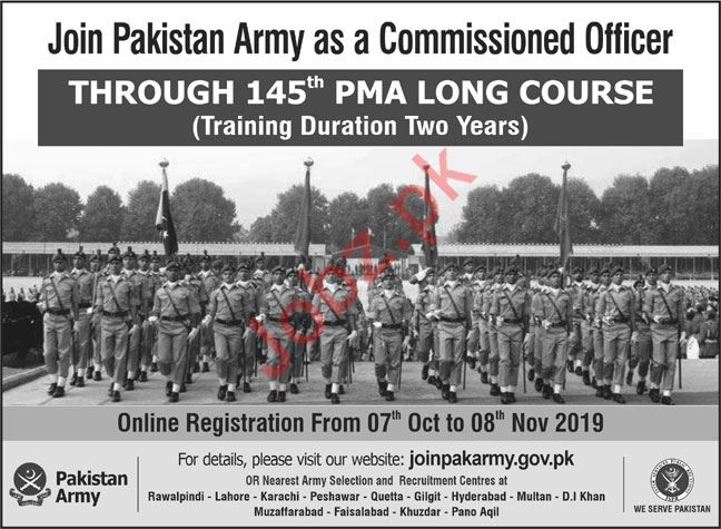 Join Pakistan Army as a Commissioned Officer