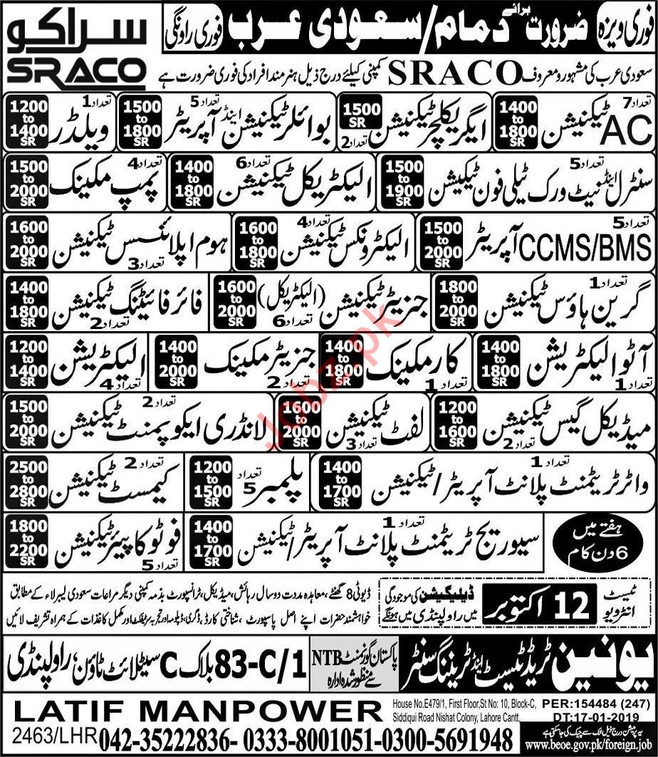SRACO Company Jobs For Technical Staff