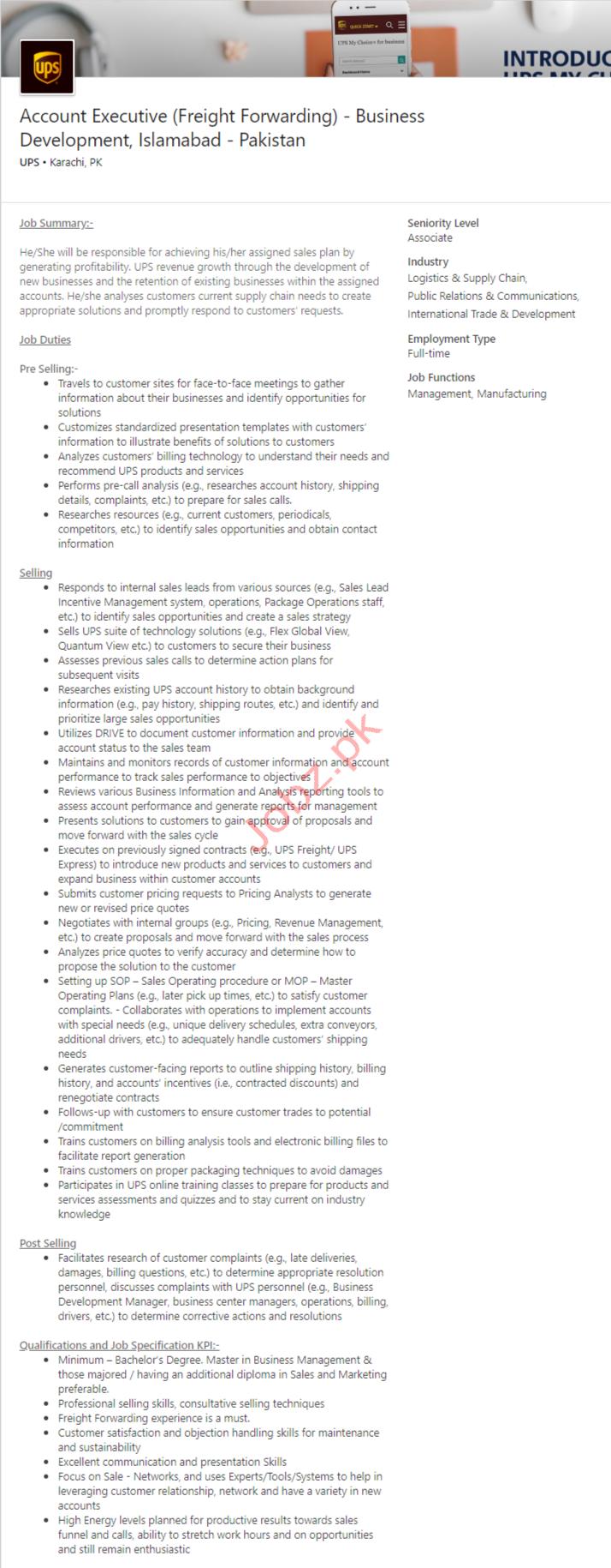 Accounts Executive Jobs in Islamabad