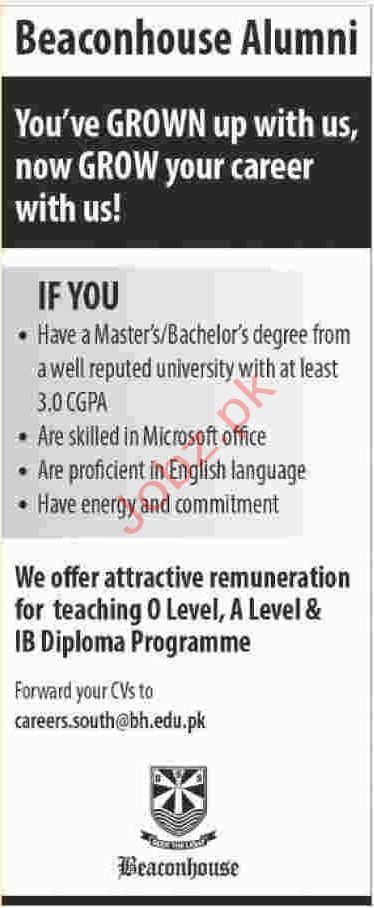 O & A Level Teacher Jobs in Karachi