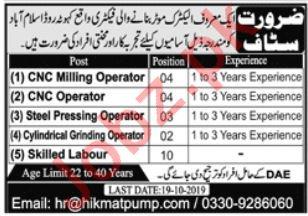 CNC Milling Operator & CNC Operator Jobs 2019