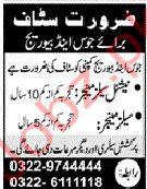 Juice & Beverage Company Jobs in Lahore