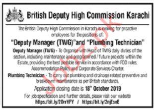 Deputy Manager TWG Plumbing Technician