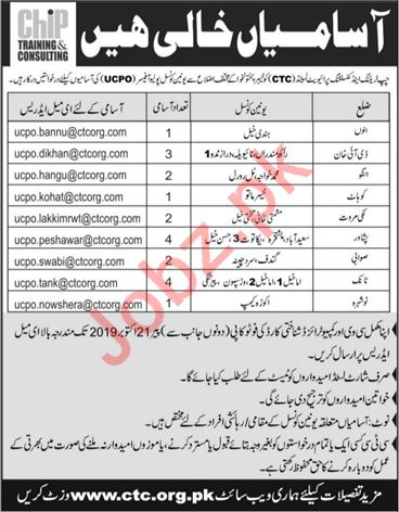 Union Council Polio Officers UCPOs Jobs 2019