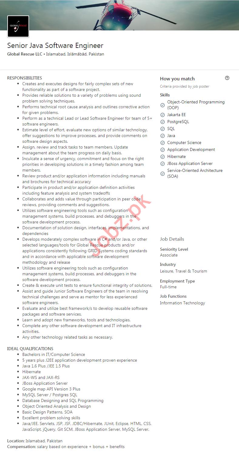 Java Software Engineer Jobs in Islamabad