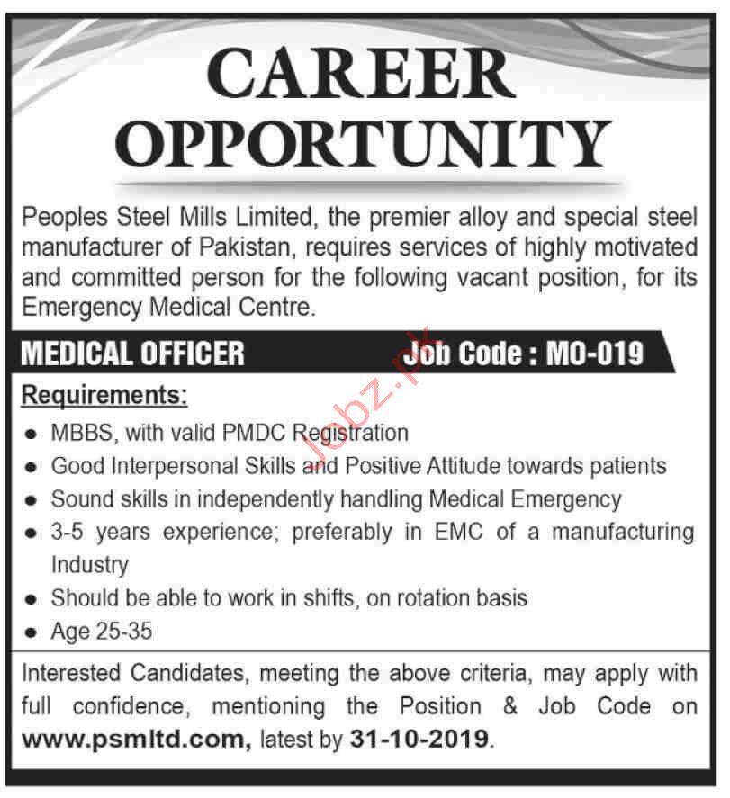 Medical Officer Jobs in Karachi