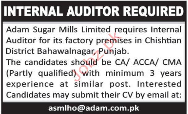 Internal Auditor Jobs in Bahawalnagar