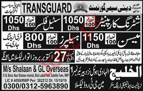 Transguard Semi Government Company Jobs in Dubai UAE