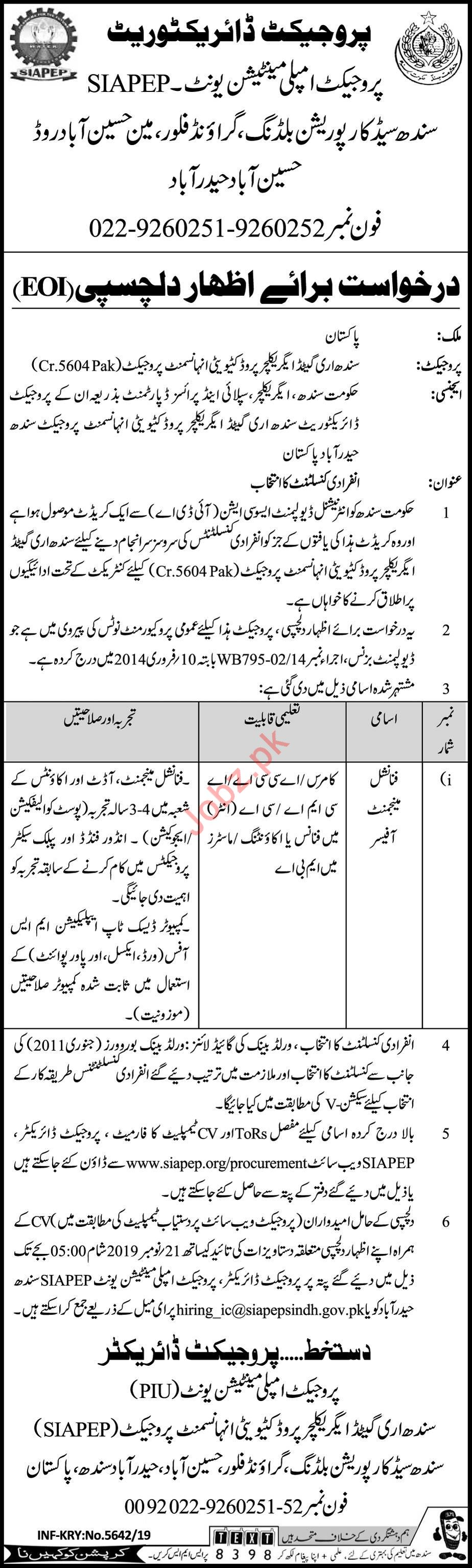 Project Implementation Unit Job 2019 in Hyderabad