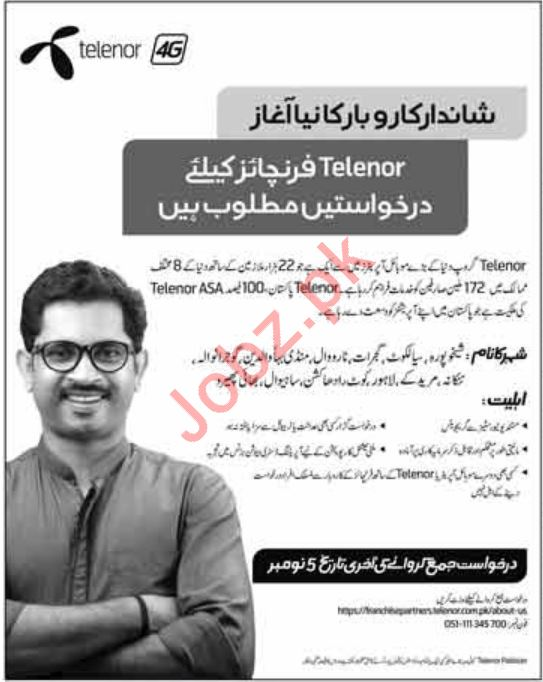 Telenor Franchises Jobs For Distibutors
