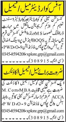 Construction Company Jobs 2019 in Islamabad