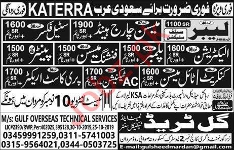Katerra Company Jobs For Construction Labors in Saudi Arabia