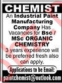 Chemist Job in Karachi