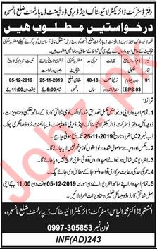 Livestock & Dairy Development Department Mansehra Jobs 2019