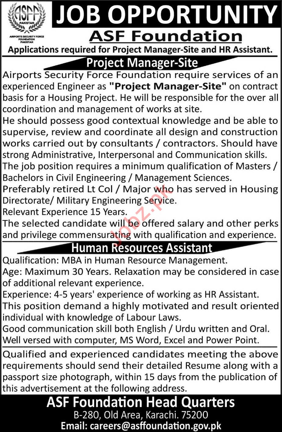 Airport Security Force ASF Foundation Jobs in Karachi