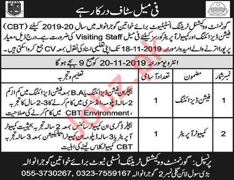 Government Vocational Training Institute Walk In Interviews