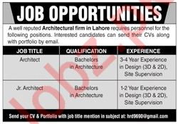 Architect Jobs in Lahore