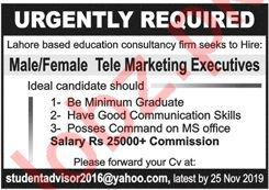 Telemarketing Executive Job in Lahore