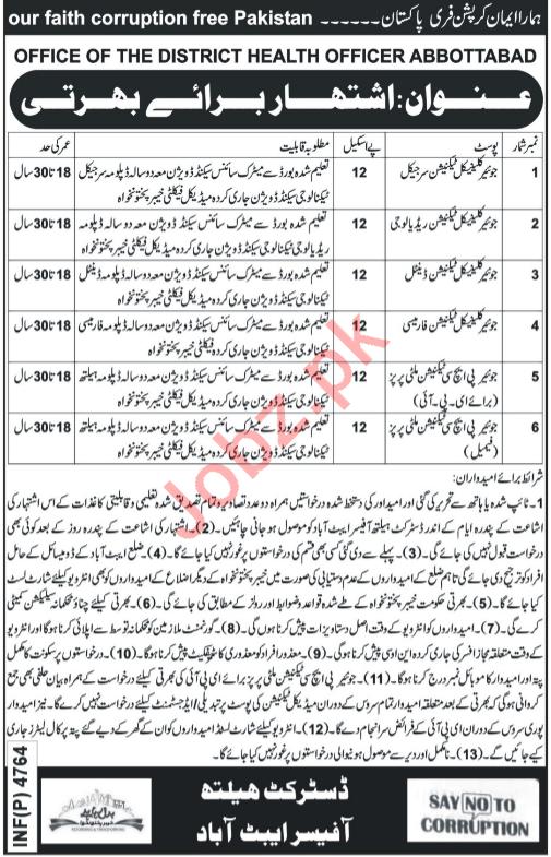 District Health Authority Abbottabad Jobs 2019